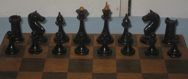 Антикварные деревянные шахматы xx века