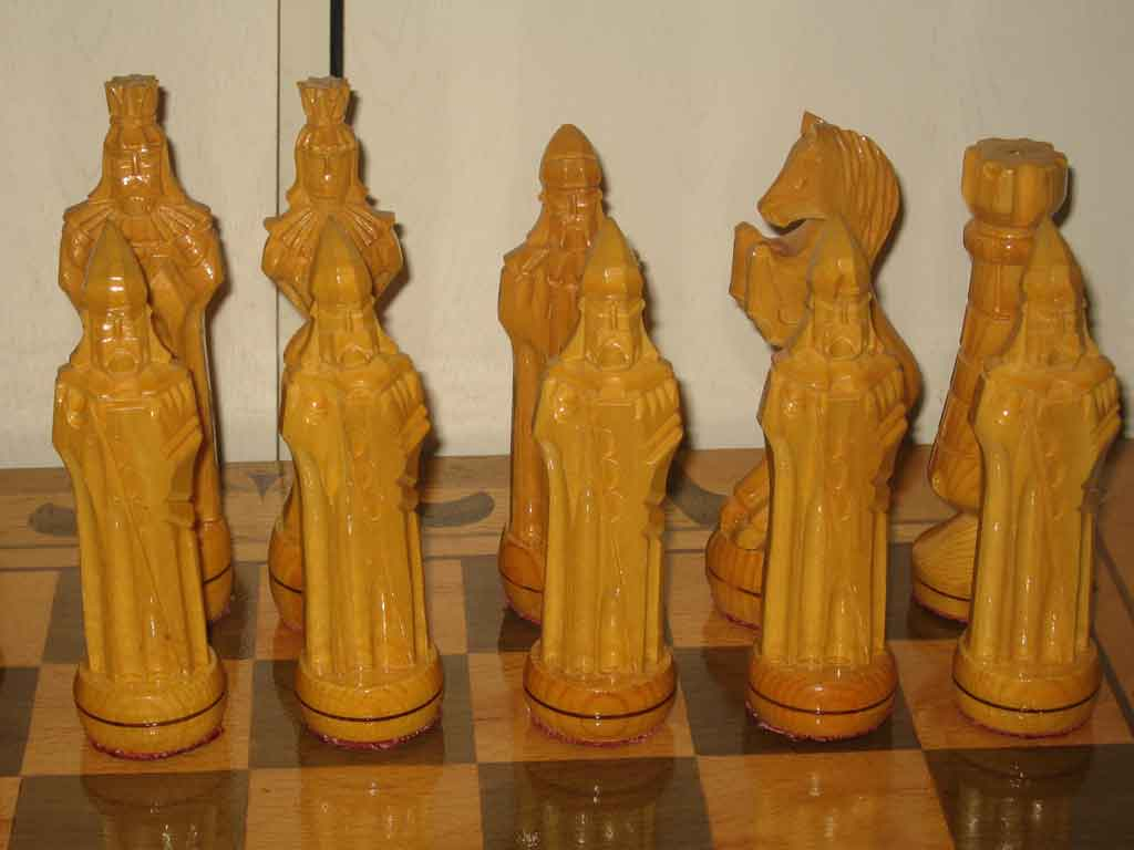 Large wooden chess gift