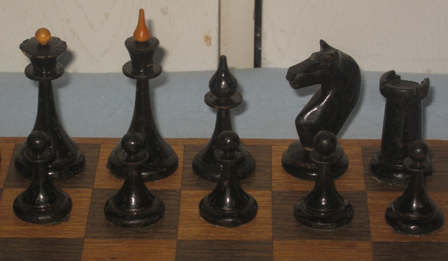 Antique wooden chess xx century