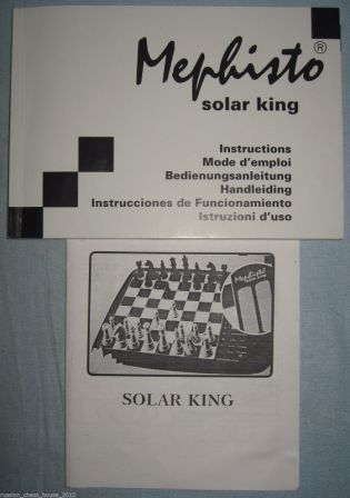 Mephisto Solar King Chess Computer